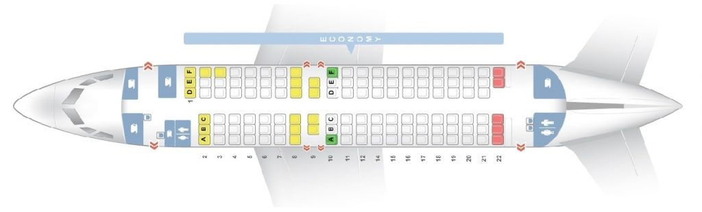 Seat Map and Seating Chart Scandinavian Airlines SAS Boeing 737 600 Layout 120 Seats
