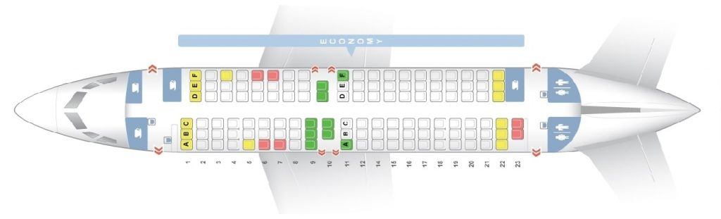 Seat Map and Seating Chart Scandinavian Airlines SAS Boeing 737 600 Layout 123 Seats