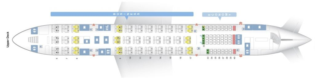 Seat Map and Seating Chart Upper Deck Airbus A380 800 Malaysia Airlines
