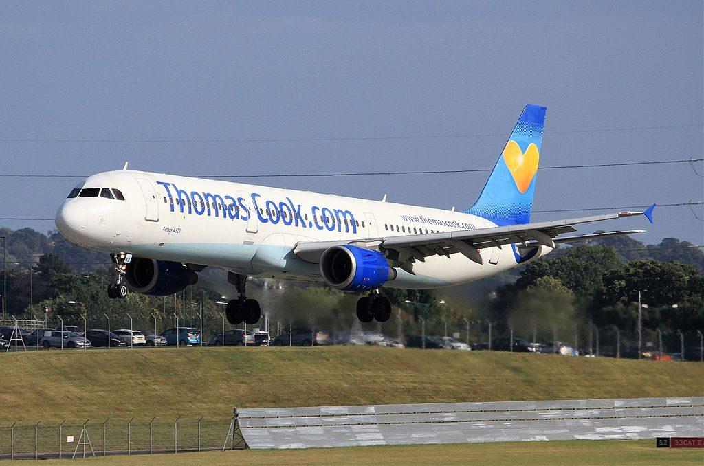 Thomas Cook Airlines G NIKO Airbus A321 211 at Birmingham Airport