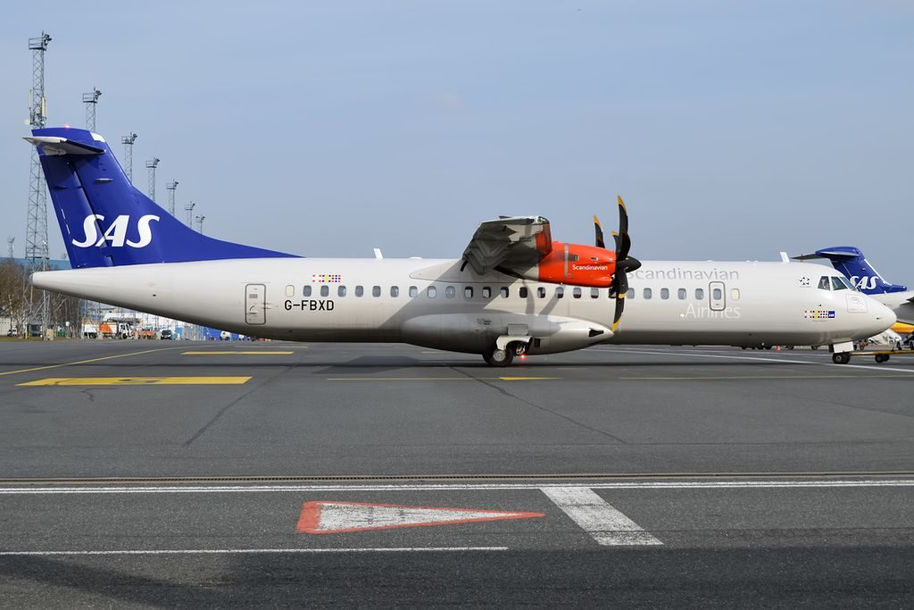 ATR 72 600 72 212A G FBXD Flybe Ansur Viking SAS Scandinavian Airlines at Tallinn Airport
