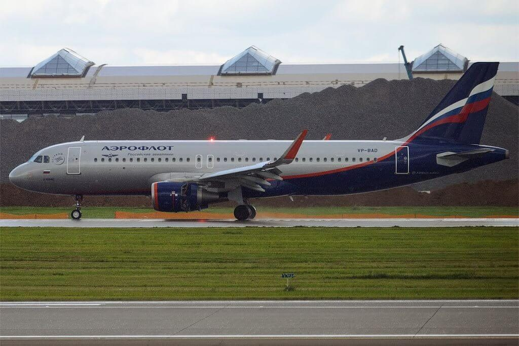Aeroflot Airbus A320 214WL VP BAD A. Ioffe А. Иоффе at Sheremetyevo International Airport