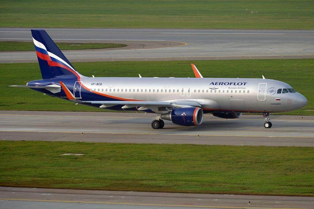 Aeroflot Airbus A320 214WL VP BCB S. Gerasimov С. Герасимов at Sheremetyevo International Airport