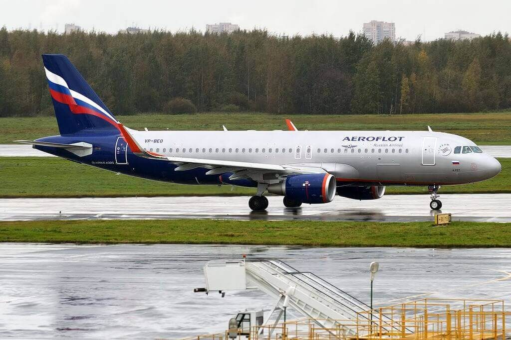 Aeroflot Airbus A320 214WL VP BEO A. Fet А. Фет at Pulkovo Airport