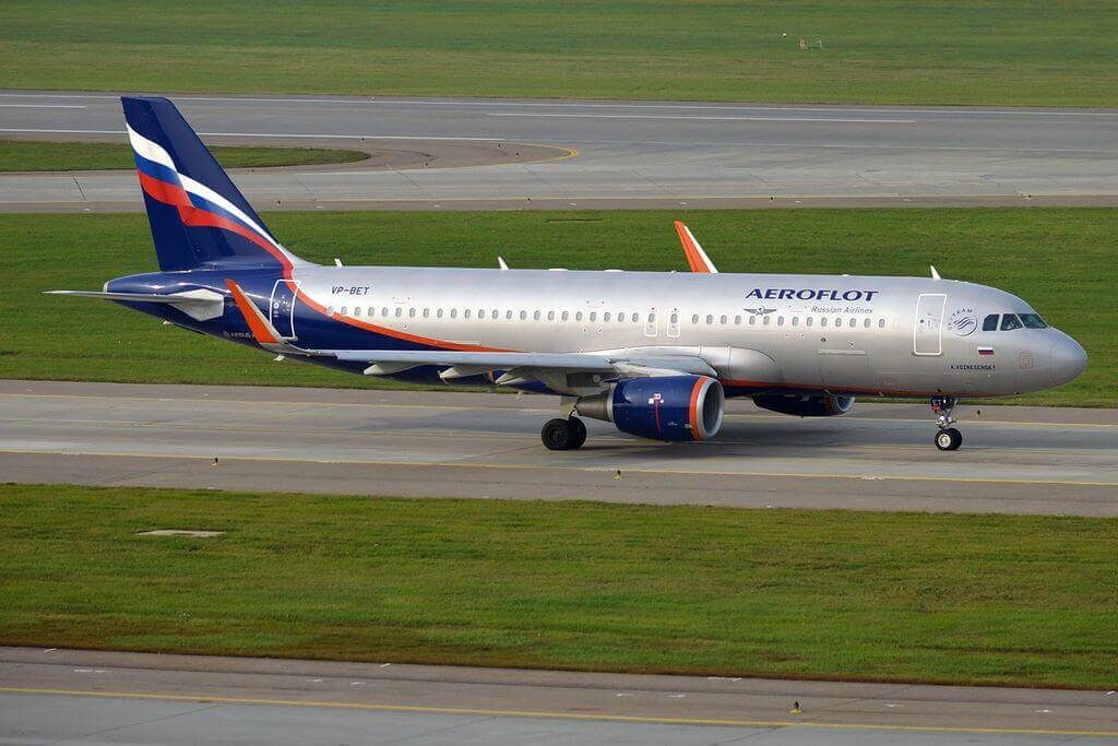 Aeroflot Airbus A320 214WL VP BET A. Voznesensky А. Вознесенский at Sheremetyevo International Airport