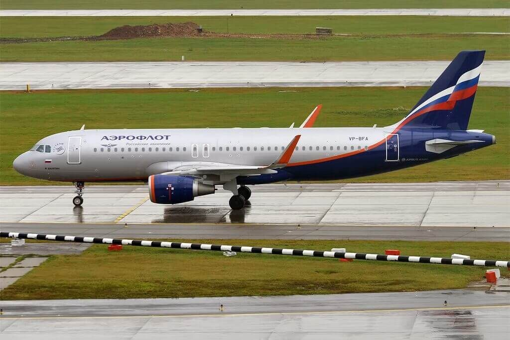 Aeroflot Airbus A320 214WL VP BFA F. Chaliapin Ф. Шаляпин at Sheremetyevo International Airport