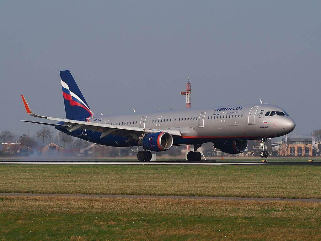 Aeroflot Airbus A321 211WL VP BAE S. Bondarchuk С. Бондарчук at Amsterdam Airport Schiphol