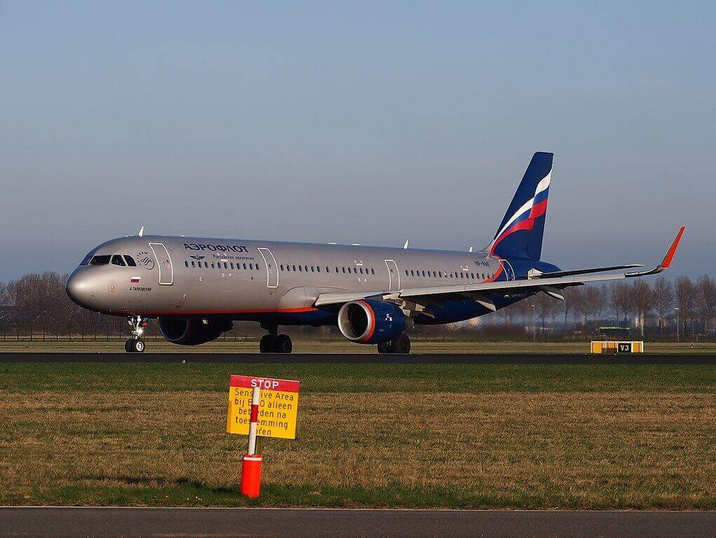 Aeroflot Airbus A321 211WL VP BAF A. Tarkovsky А. Тарковский at Amsterdam Airport Schiphol