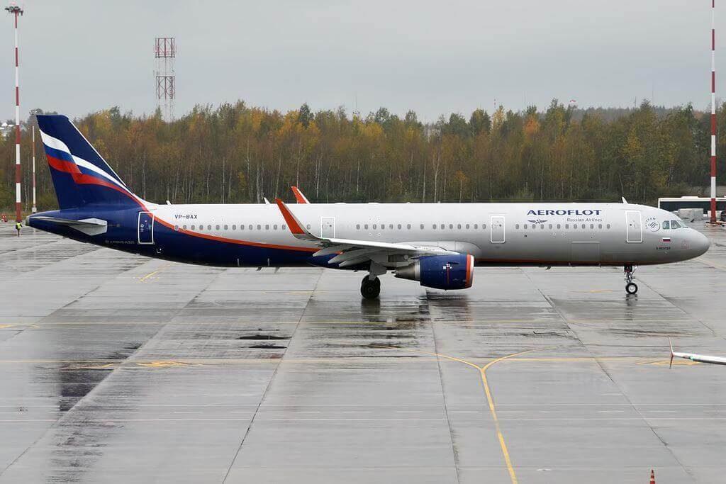 Aeroflot Airbus A321 211WL VP BAX S. Richter С. Рихтер at Pulkovo Airport