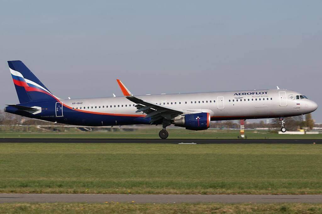 Aeroflot Airbus A321 211WL VP BAZ Y. Levitan Ю. Левитан at Amsterdam Airport Schiphol