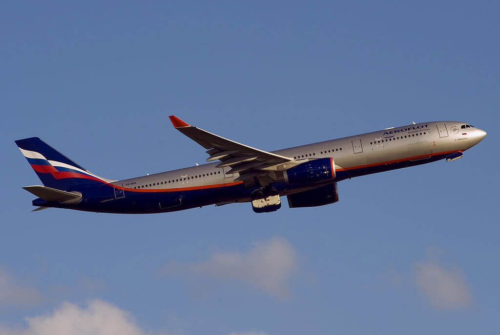 Aeroflot Airbus A330 343 VQ BEK A.Tvardovsky А. Твардовский at Sheremetyevo International Airport
