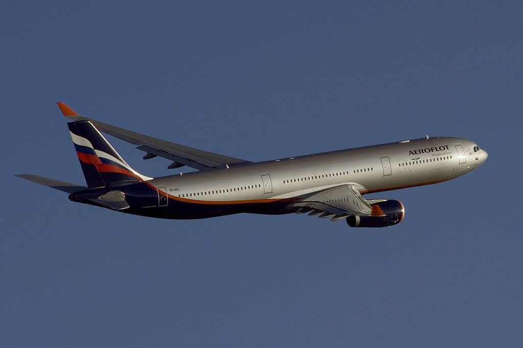 Aeroflot Airbus A330 343 VQ BEL F. Tyutchev Ф. Тютчев at Sheremetyevo International Airport