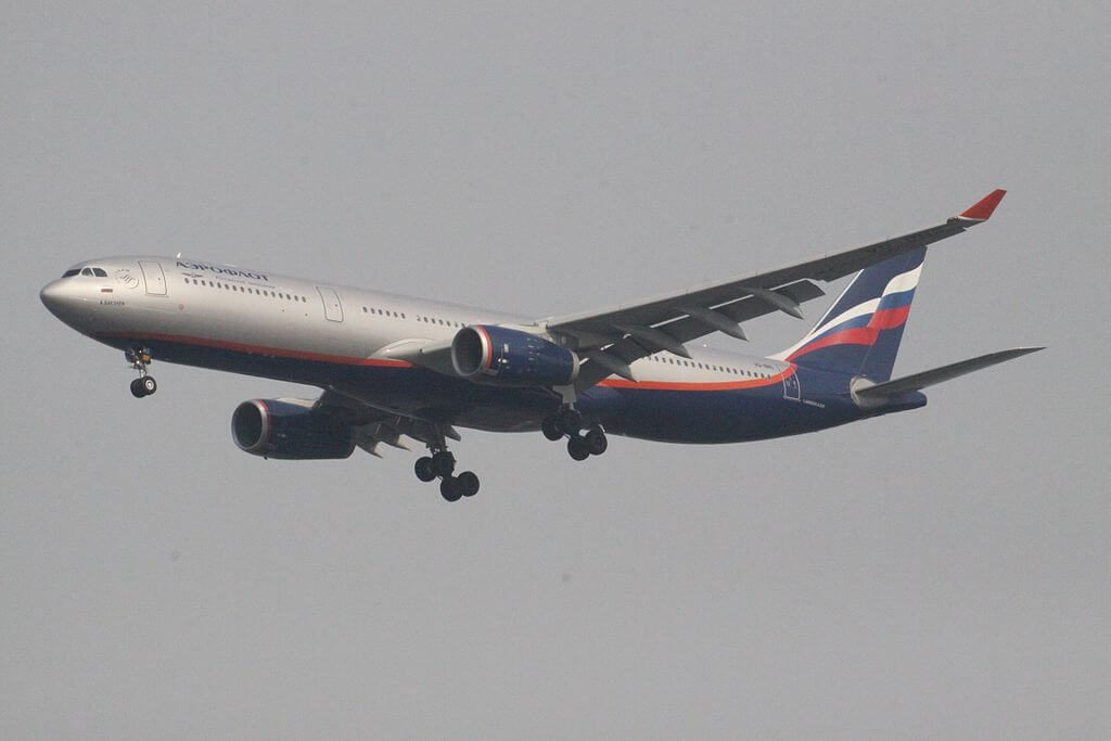 Aeroflot Airbus A330 343 VQ BNS A. Bakulev А. Бакулев at Suvarnabhumi International Airport