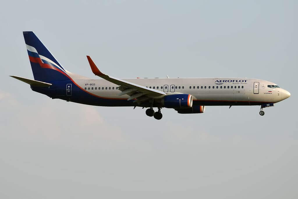 Aeroflot Boeing 737 8LJWL VP BCD N. Karamzin Н. Карамзин at Sheremetyevo International Airport