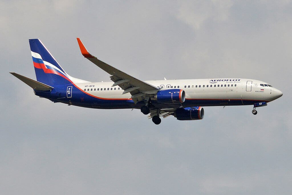 Aeroflot Boeing 737 8LJWL VP BFB M. Balakirev М. Балакирев at Sheremetyevo International Airport