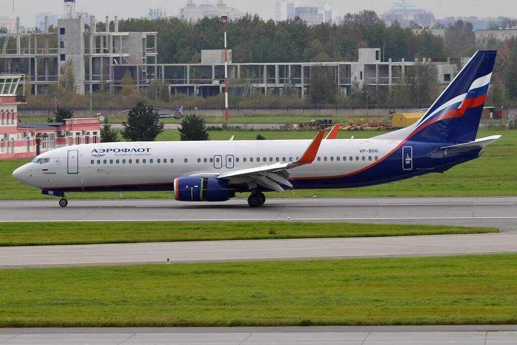 Aeroflot Boeing 737 8LJWL VP BGG G. Sviridov Г. Свиридов at Pulkovo Airport