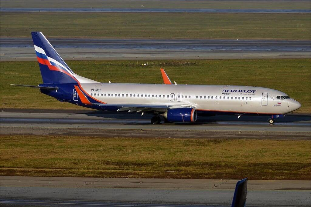Aeroflot Boeing 737 8LJWL VP BGI M. Vrubel М. Врубель at Sheremetyevo International Airport