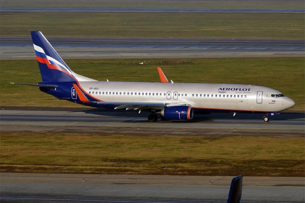 Aeroflot Boeing 737 8LJWL VP BGI M. Vrubel М. Врубель at Sheremetyevo International Airport