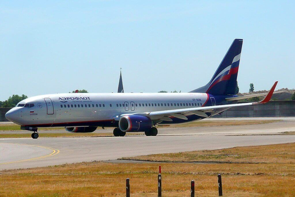 Aeroflot Boeing 737 8LJWL VP BGN L. Utyosov Л. Утёсов at London Heathrow Airport