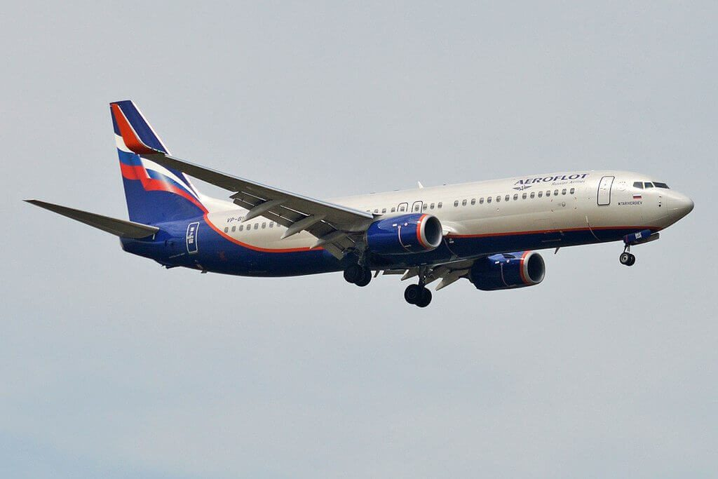 Aeroflot Boeing 737 8LJWL VP BKE M. Tariverdiev М. Таривердиев at Sheremetyevo International Airport