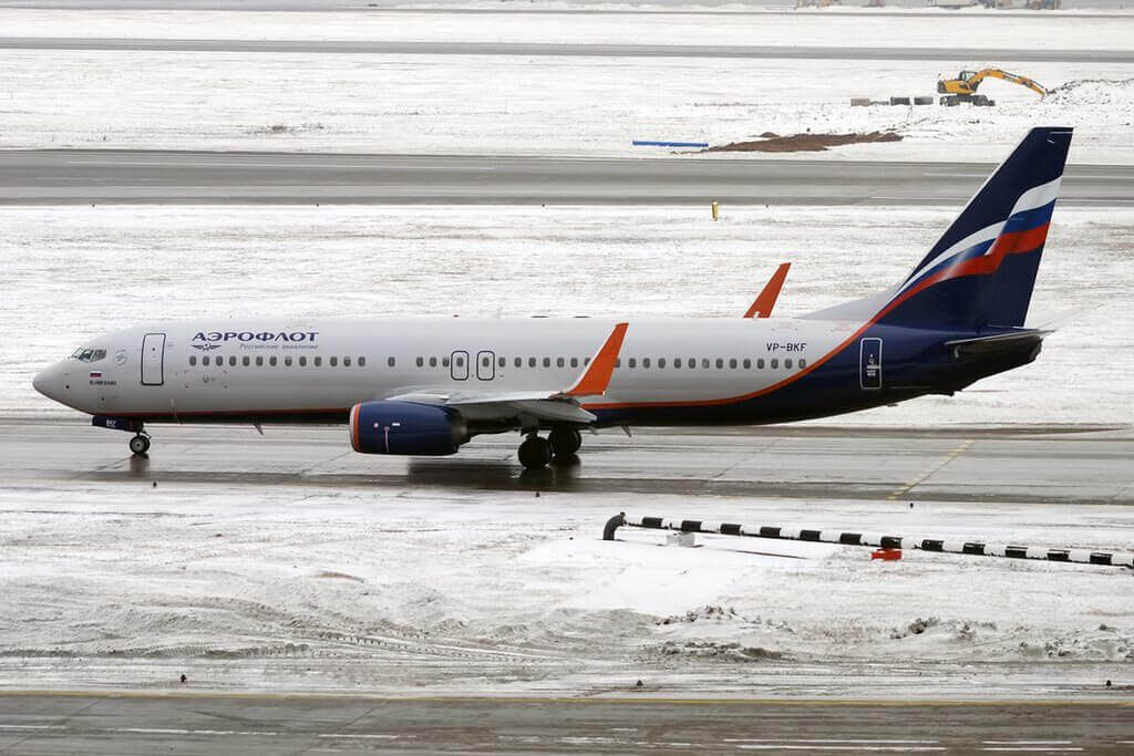Aeroflot Boeing 737 8MCWL VP BKF Y. Nikulin Ю. Никулин at Sheremetyevo International Airport