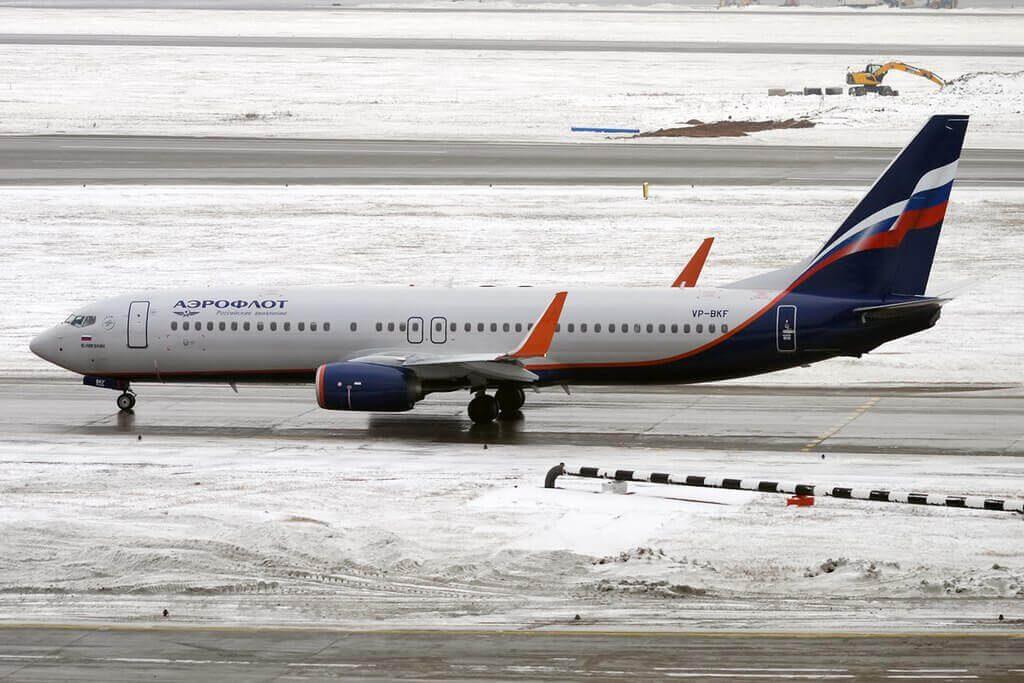 Aeroflot Boeing 737 8MCWL VP BKF Y. Nikulin Ю. Никулин at Sheremetyevo International Airport