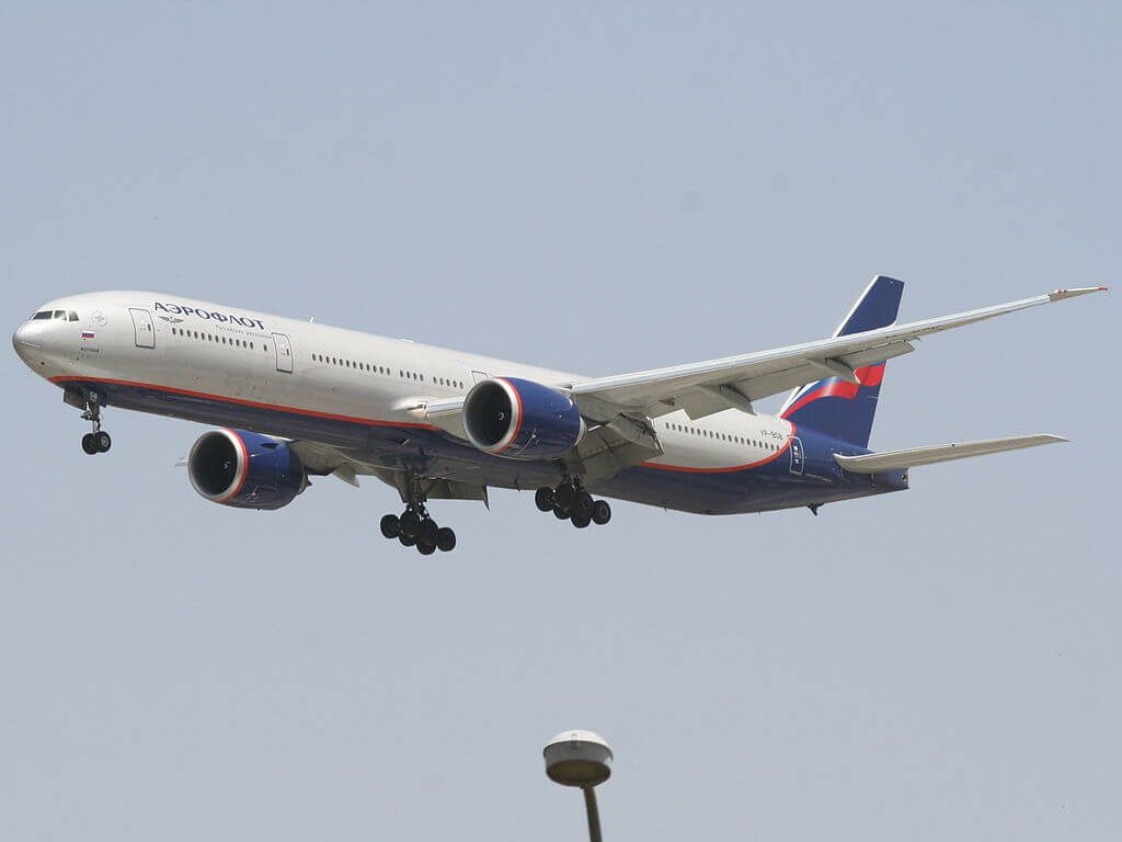 Aeroflot Boeing 777 3M0ER VP BGB M. Kutuzov М. Кутузов at Ben Gurion International Airport