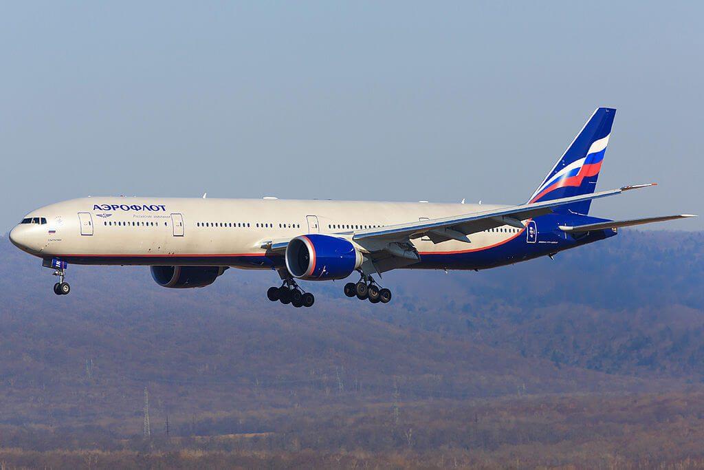 Aeroflot Boeing 777 3M0ER VP BGC P. Bagration П. Багратион at Vladivostok Airport