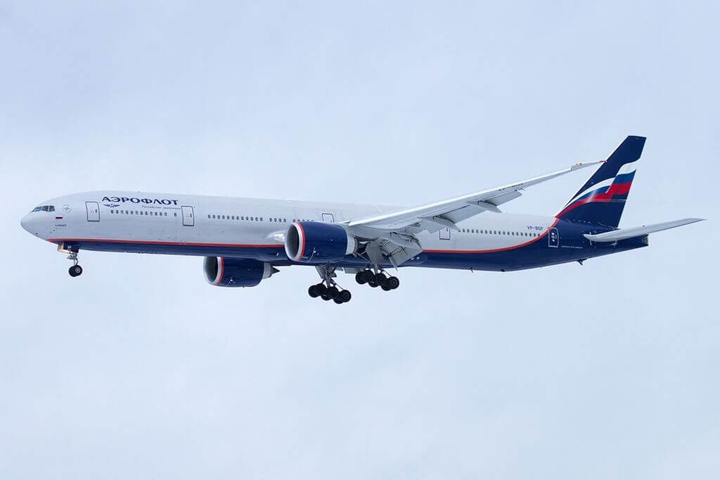 Aeroflot Boeing 777 3M0ER VP BGF D. Davydov Д. Давыдов at Sheremetyevo International Airport