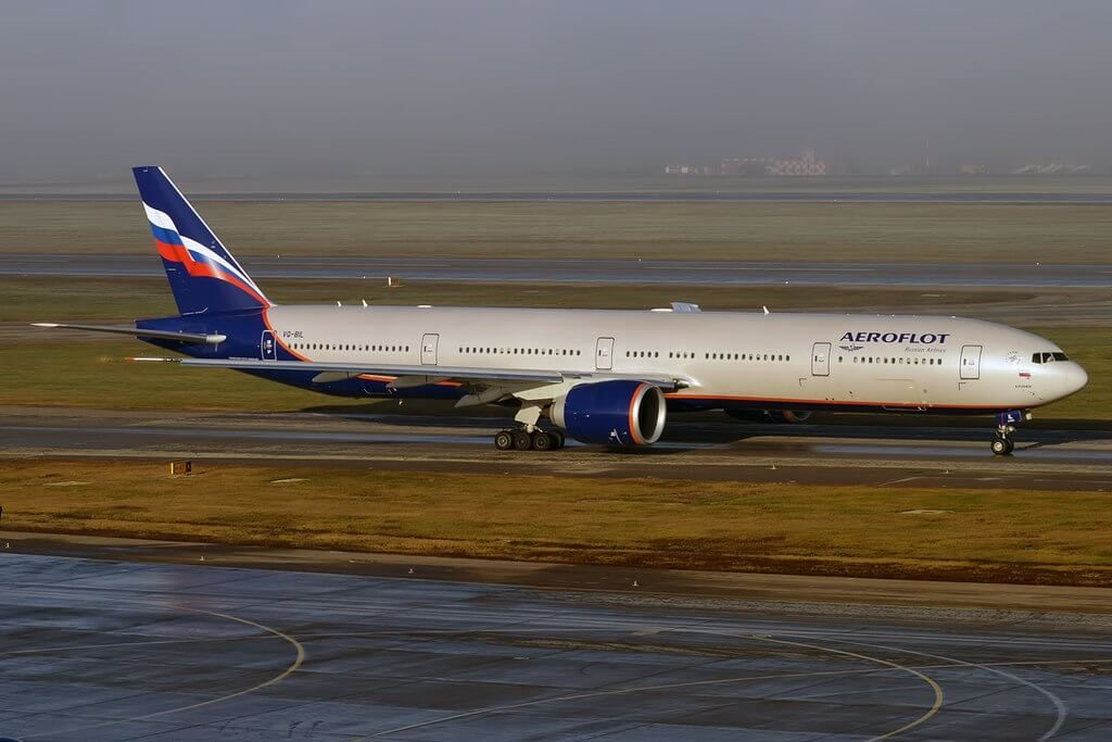 Aeroflot Boeing 777 3M0ER VQ BIL A. Pushkin А. Пушкин at Sheremetyevo International Airport