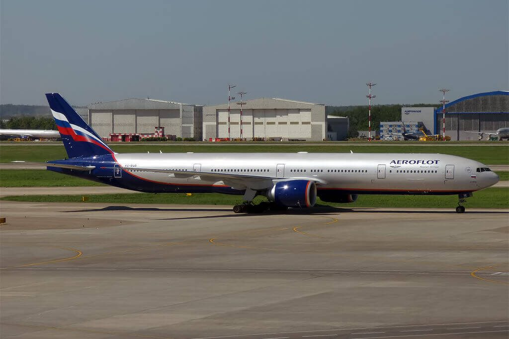 Aeroflot Boeing 777 3M0ER VQ BQB A. Kuprin А. Куприн at Sheremetyevo International Airport