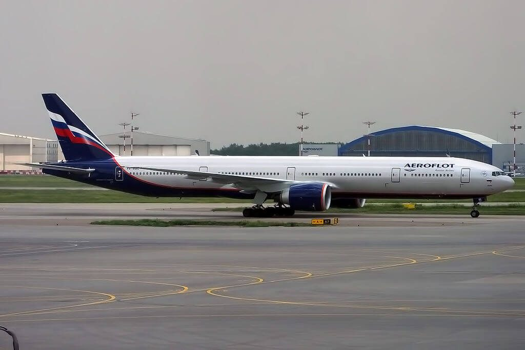 Aeroflot Boeing 777 3M0ER VQ BQC I. Bunin И. Бунин at Sheremetyevo International Airport