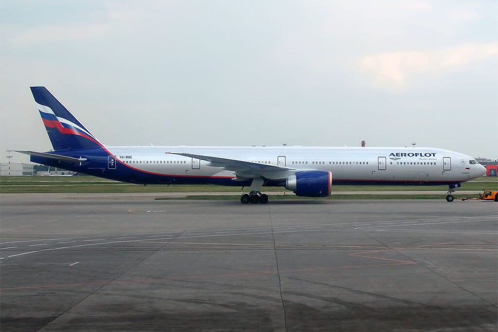 Aeroflot Boeing 777 3M0ER VQ BQE M. Lermontov М. Лермонтов at Sheremetyevo International Airport