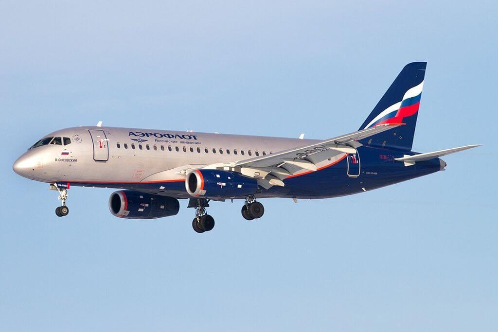Aeroflot RA 89014 Sukhoi Superjet 100 95 V. Sysovsky B. Сысовский at Sheremetyevo International Airport