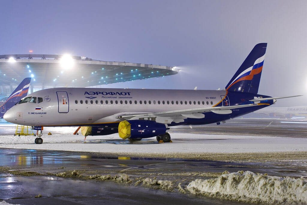 Aeroflot RA 89017 Sukhoi Superjet 100 95 P. Khmelnitsky П. Хмельницкий at Sheremetyevo International Airport