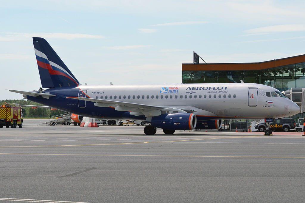 Aeroflot RA 89023 Sukhoi Superjet 100 95B P. Mikhaylov П.Михайлов at Tallinn Airport