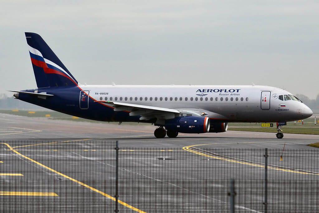 Aeroflot RA 89026 Sukhoi Superjet 100 95B G. Benkunsky Г. Бенкунский at Tallinn Airport