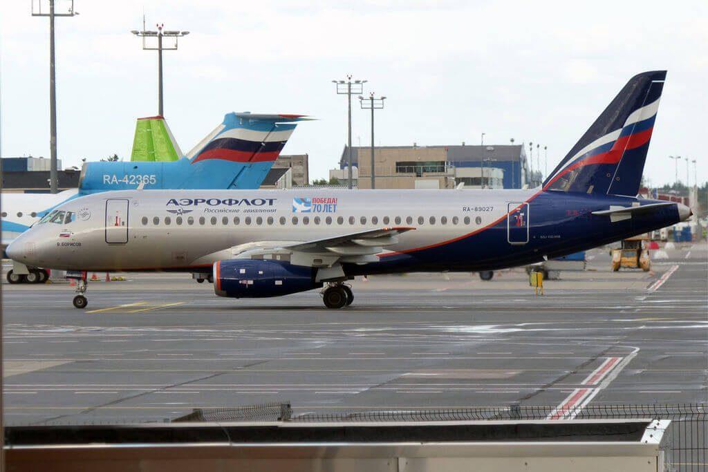 Aeroflot RA 89027 Sukhoi Superjet 100 95B V. Borisov В. Борисов at Tallinn Airport