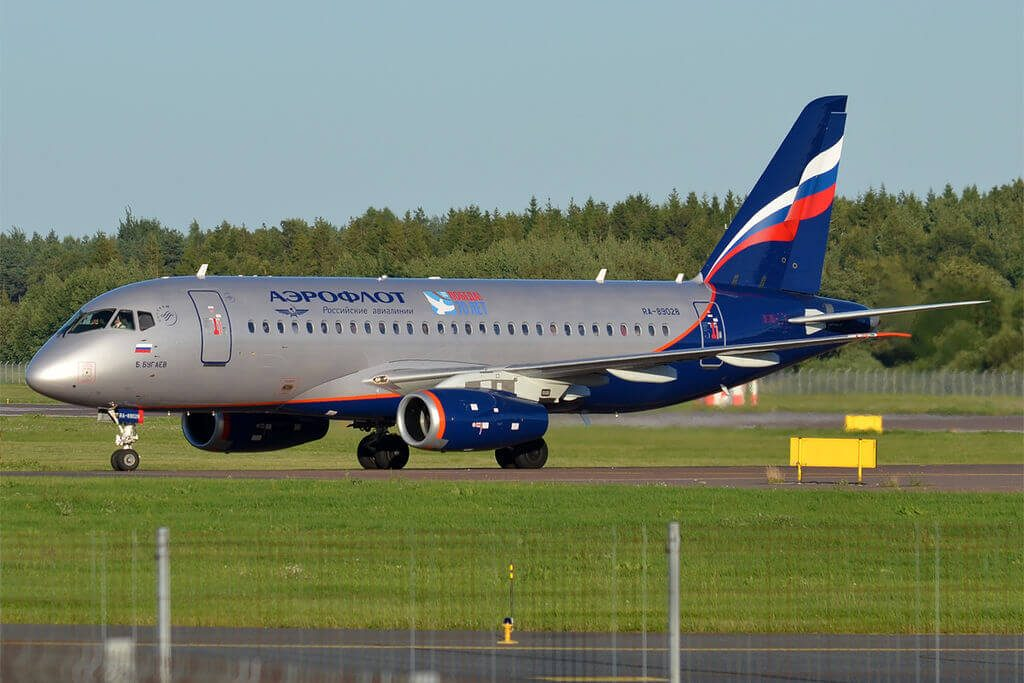 Aeroflot RA 89028 Sukhoi Superjet 100 95B B. Bugaev Б. Бугаев at Tallinn Airport