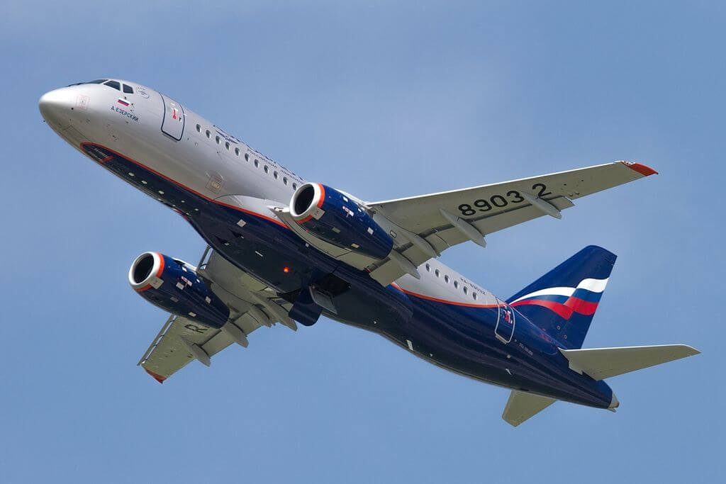 Aeroflot Sukhoi Superjet 100 95 RA 89032 D. Ezersky Д. Езерский at Sheremetyevo International Airport