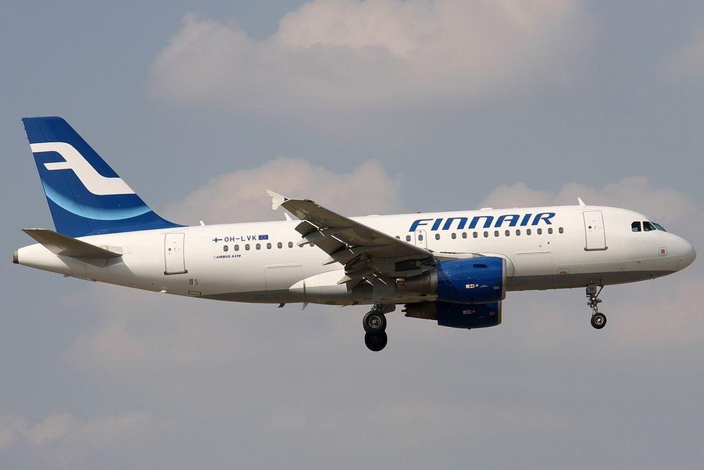 Airbus A319 112 Finnair OH LVK at Bologna Guglielmo Marconi Airport