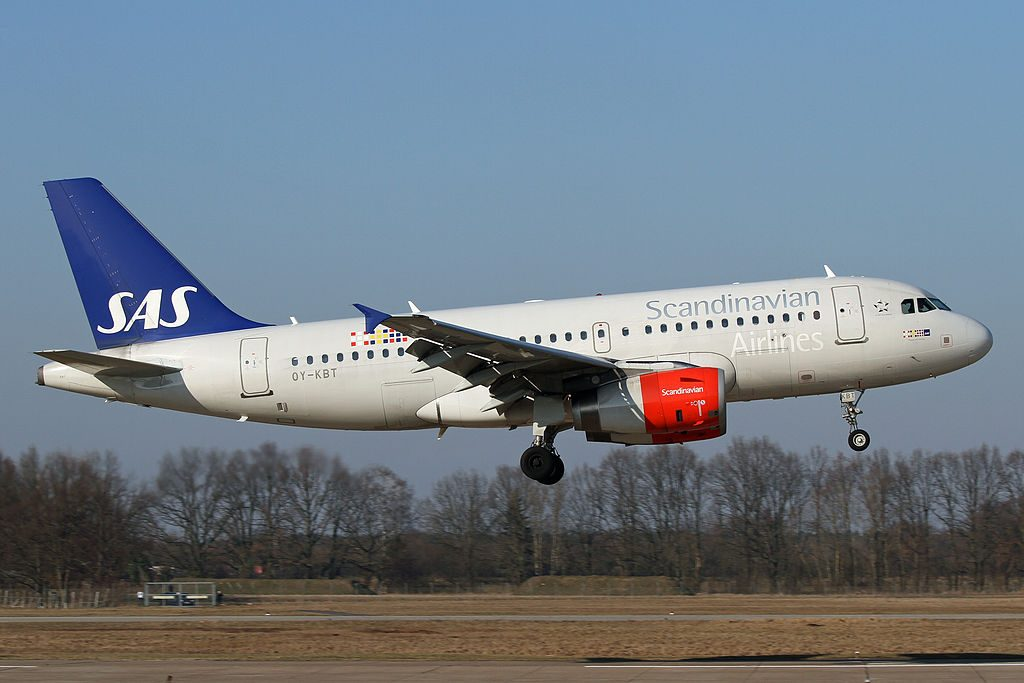 Airbus A319 131 SAS Scandinavian Airlines OY KBT Ragnvald Viking
