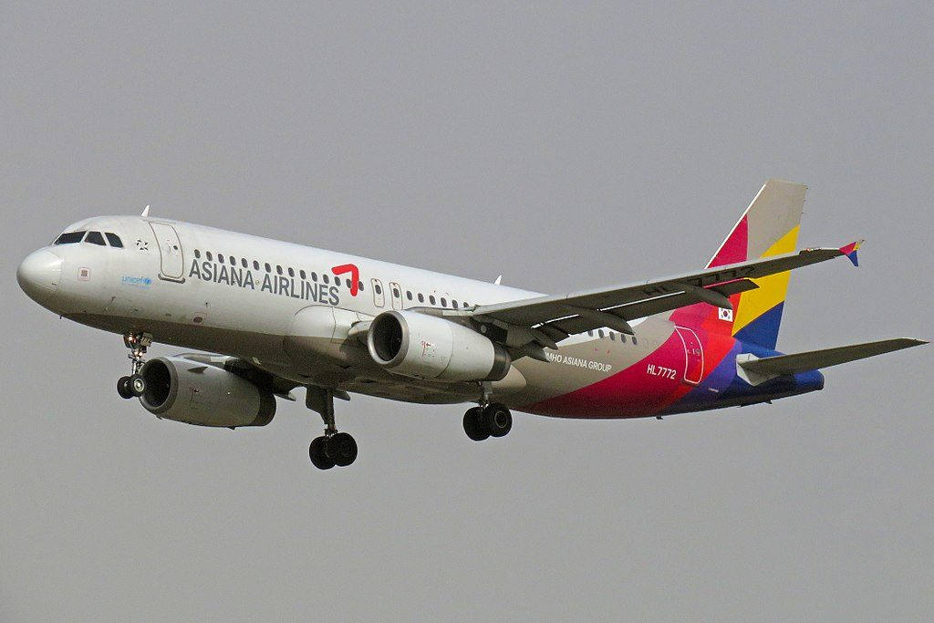 Airbus A320 232 Asiana Airlines HL7772 at Beijing Capital International Airport