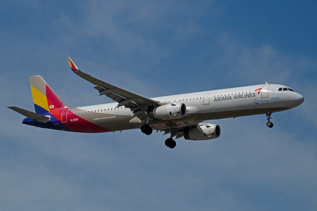 Airbus A321 231WL HL8018 Asiana Airlines at Beijing Capital International Airport