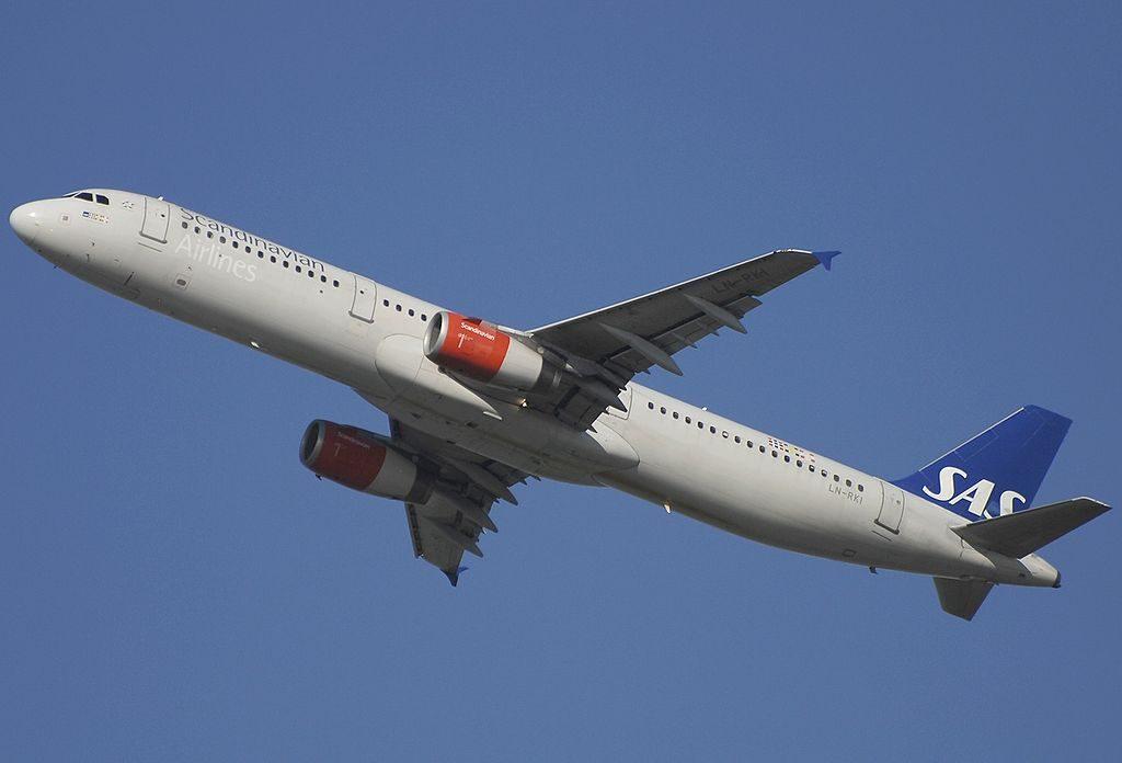 Airbus A321 232 Scandinavian Airlines SAS LN RKI Gunnhild Viking at Fiumicino Airport