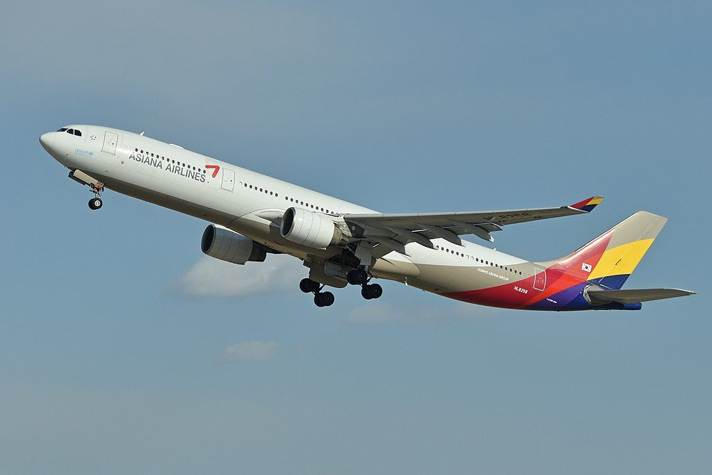 Airbus A330 323X HL8258 Asiana Airlines at Beijing Capital International Airport