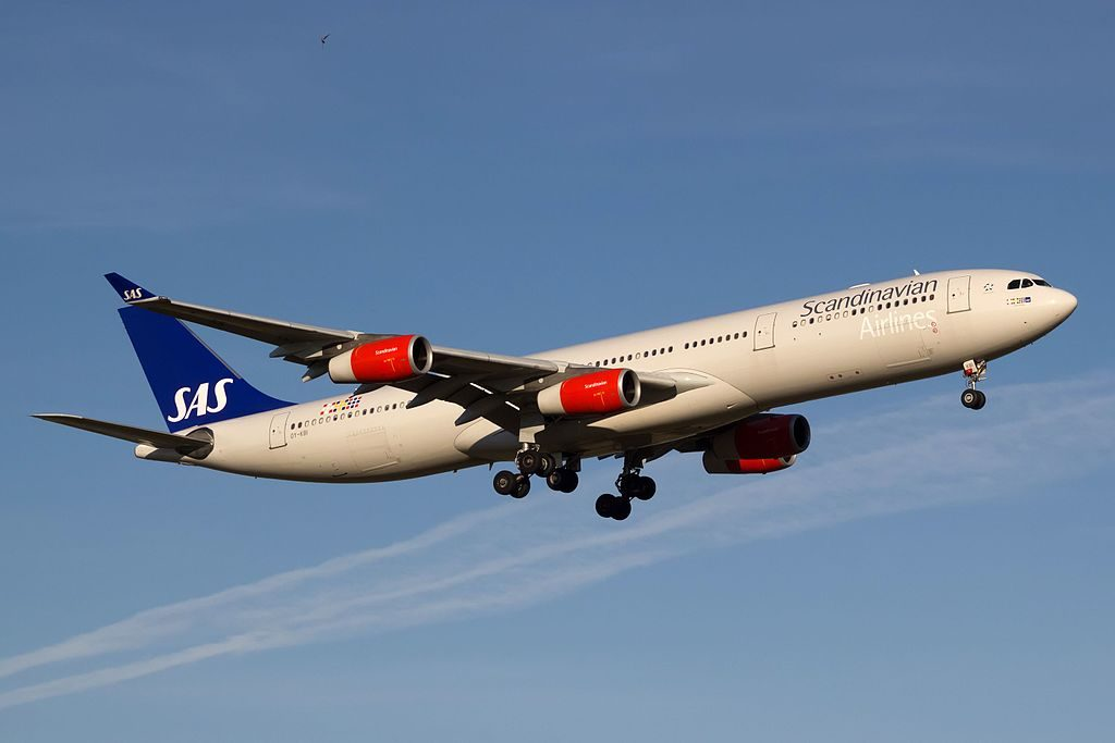 Airbus A340 313 OY KBI Rurik Viking SAS Scandinavian Airlines at Copenhagen Airport