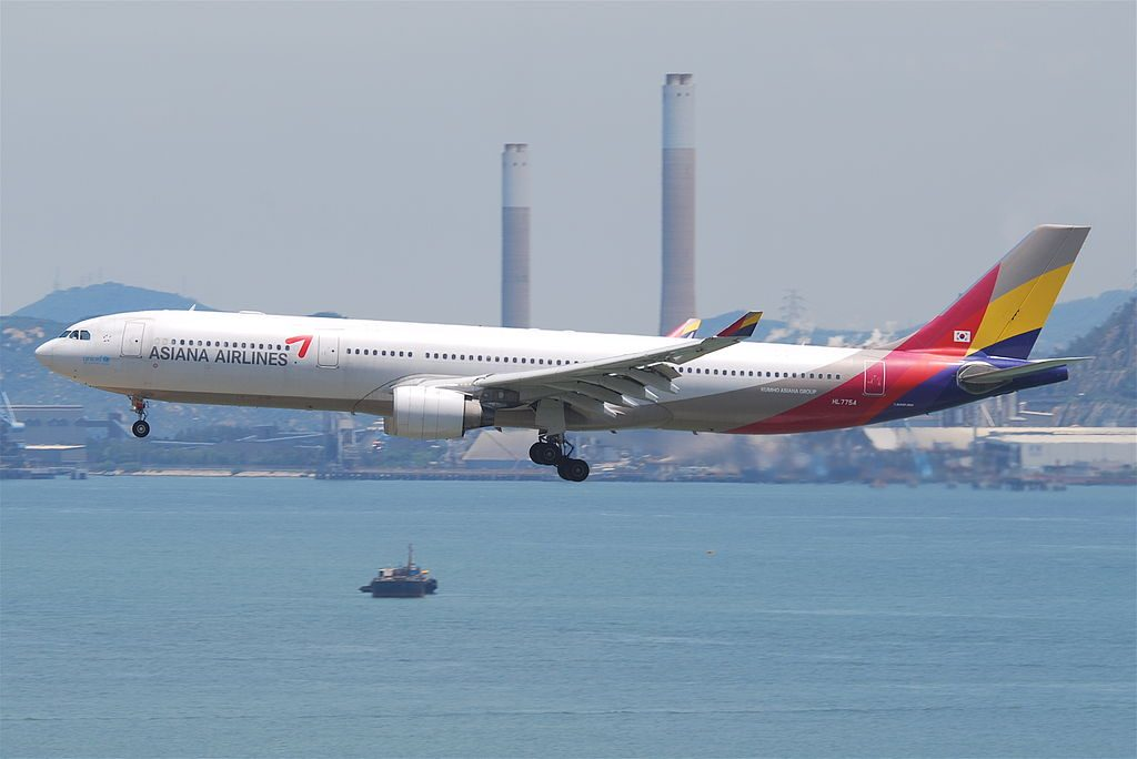 Asiana Airlines Airbus A330 323 HL7754 at Hong Kong International Airport HKG