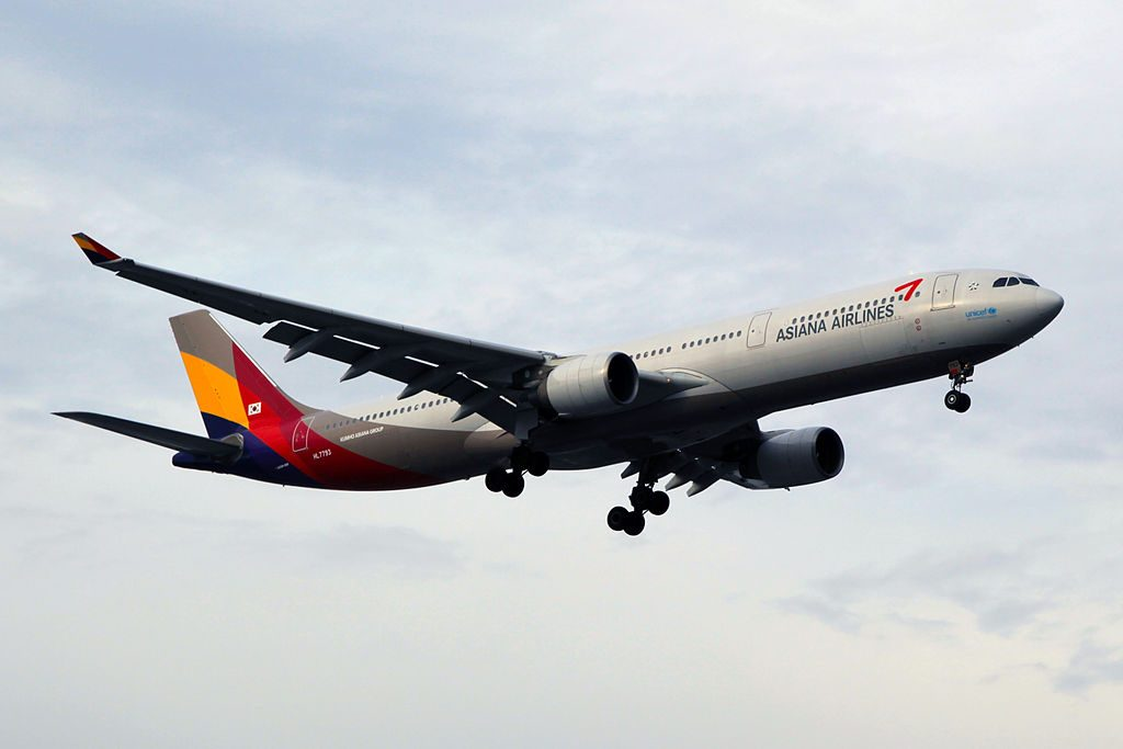 Asiana Airlines Airbus A330 323X HL7793 at Shanghai Hongqiao International Airport