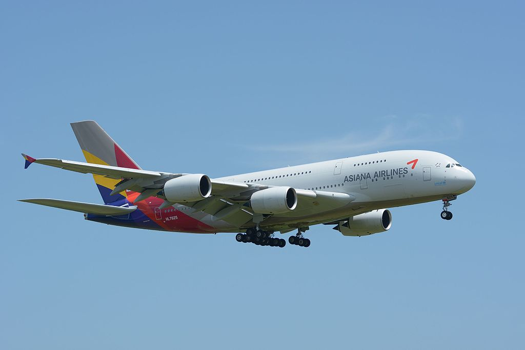 Asiana Airlines Airbus A380 841 HL7625 at NRT Narita Airport